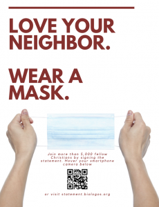 Love your neighbor. Wear a mask.